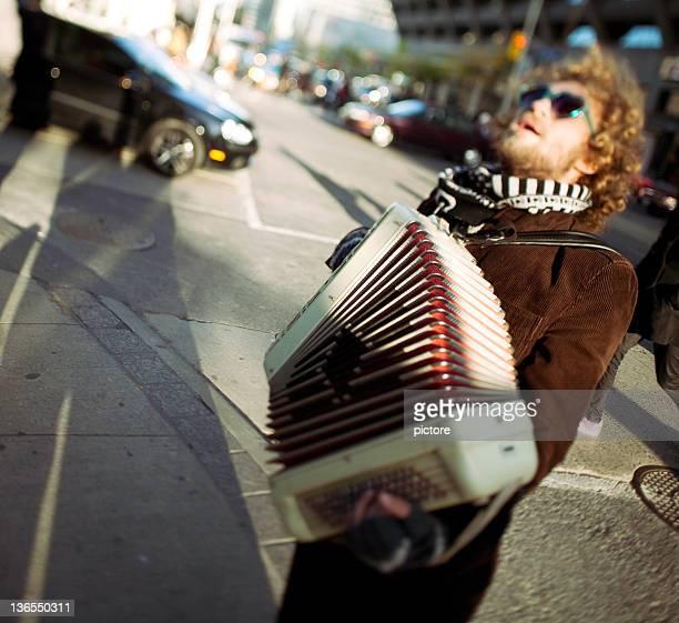 Accordionist (Street art )