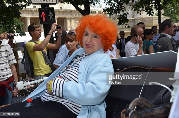 Accordionist Yvette Horner attends the Singe Germain' Festival Tribute To Georges Blondel at Place Saint Sulpice on May 21 2011 in Paris France