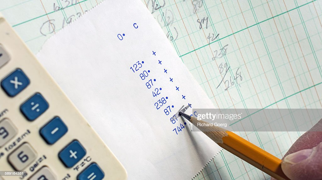 account and budget ledger stock photo getty images