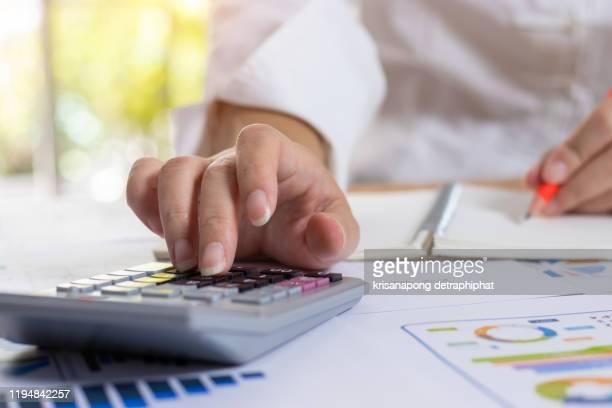 account,accounting concept - falência imagens e fotografias de stock