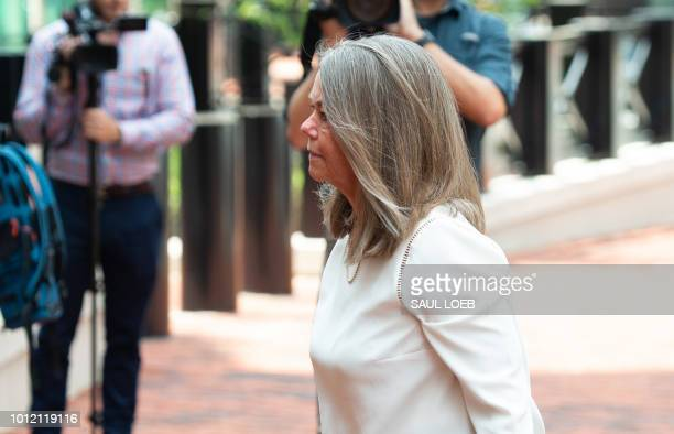 Accountant Cindy Laporta arrives to testify on day 5 of the trial against former Trump campaign manager Paul Manafort on 18 charges stemming from...