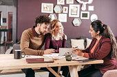 Accountant explaining taxes for couple