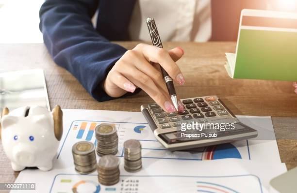 Accountant verify the Saving Account Book and Statement