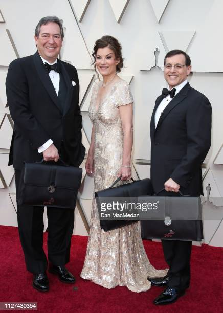 Accountants from PriceWaterhouseCoopers attend the 91st Annual Academy Awards at Hollywood and Highland on February 24 2019 in Hollywood California