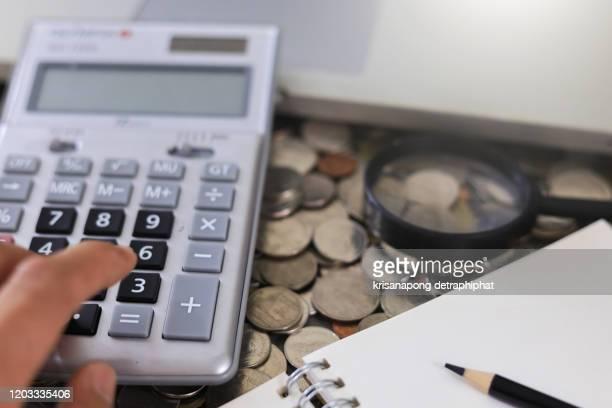 accounting,account - devolución del saque fotografías e imágenes de stock