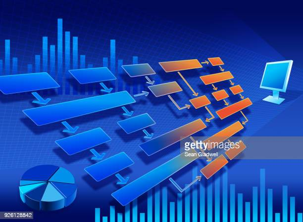accounts flow chart - diagramma di flusso foto e immagini stock