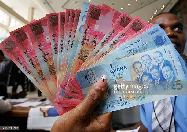 Ghana Currency Stock Pictures Royalty