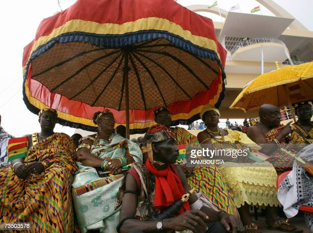 Ghanian women attend celebrations of the 50th anniversary of Ghana's independence in Accra 06 March 2007 Kufuor said in a speech marking the event...
