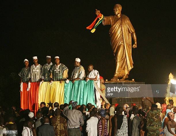 People play in a show about the declaration of independence at the Memorial Park named after the father of Ghanaian independence, the late Kwame...