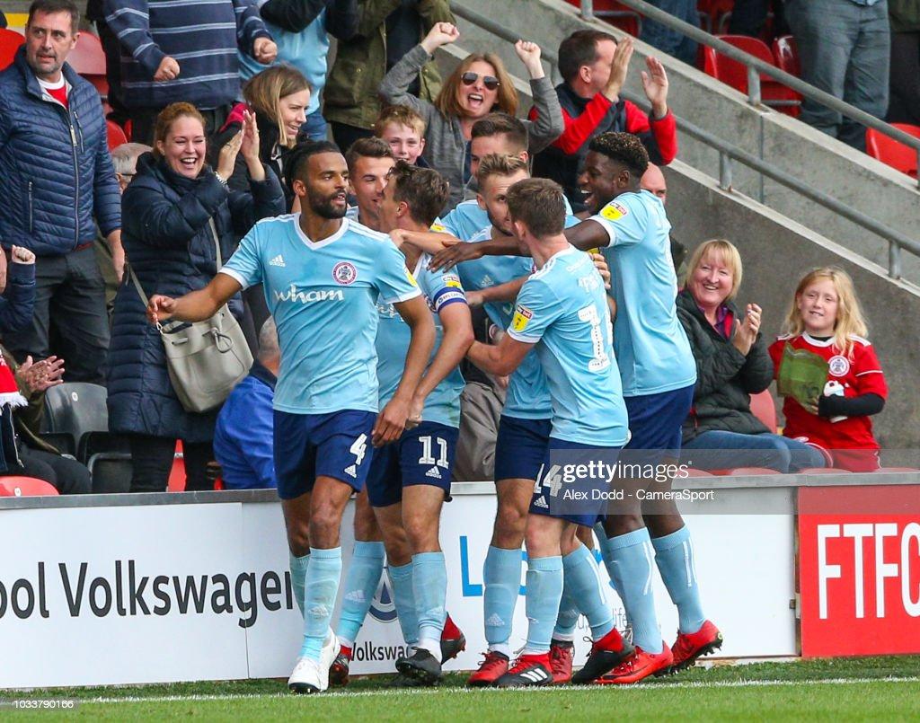 Fleetwood Town v Accrington Stanley - Sky Bet League One : News Photo