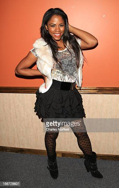 Acctress/singer Shanica Knowles attends Rock Star Madness Band's Kenya Doll launch at Sylvia's on November 19 2012 in New York City