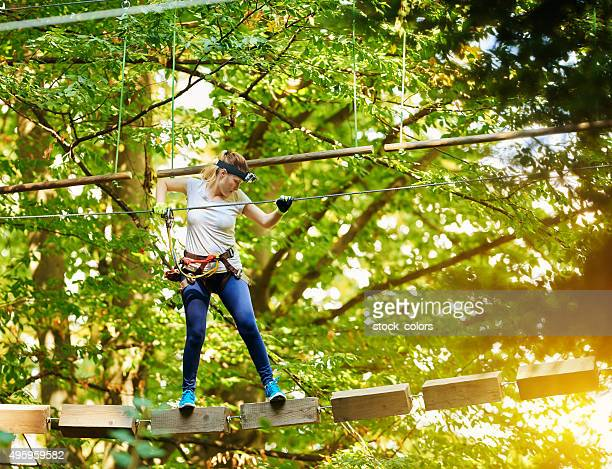 accuracy and skill for this adventure - obstacle course stock photos and pictures