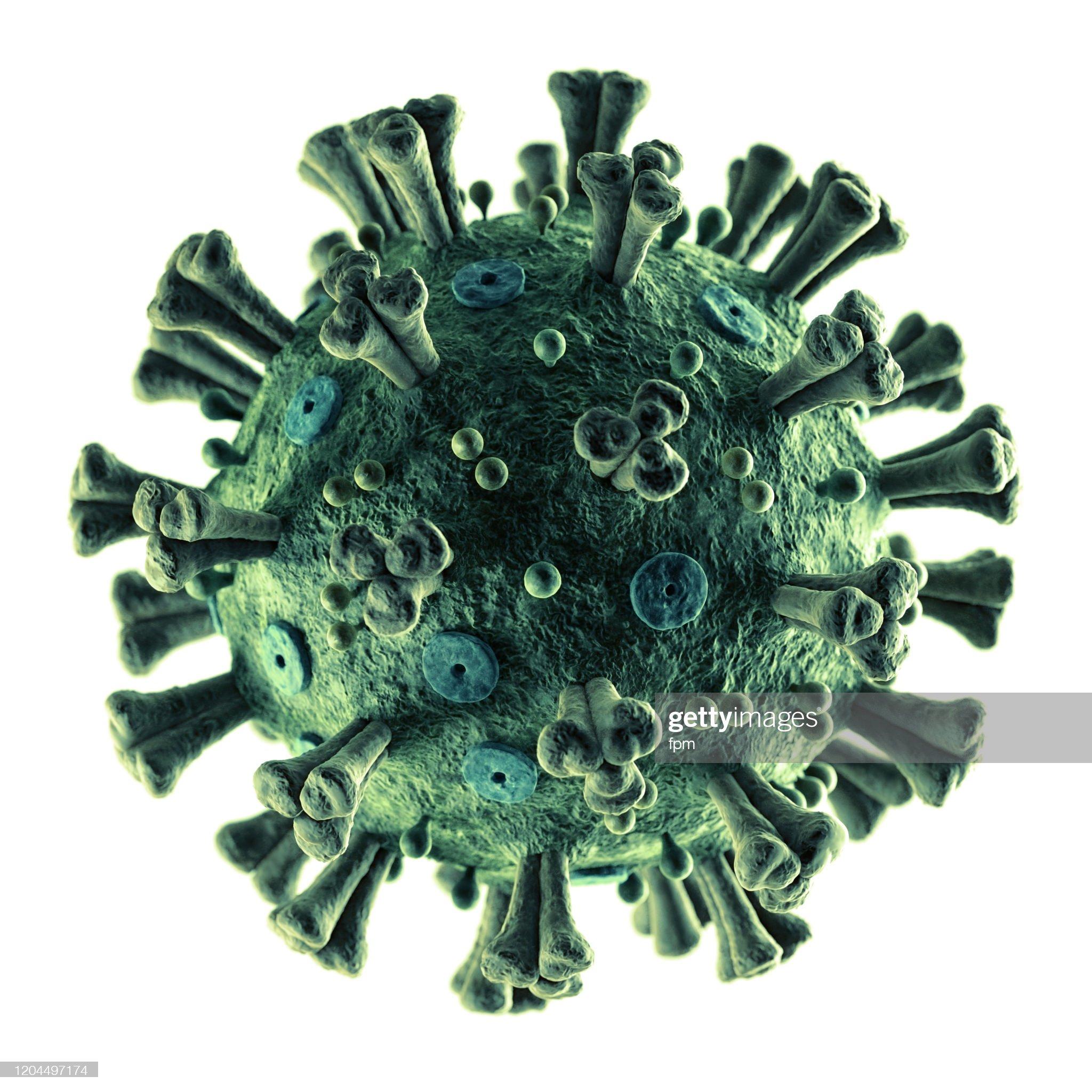 Coronavirus 2019-nCoV preciso em branco : Foto de stock