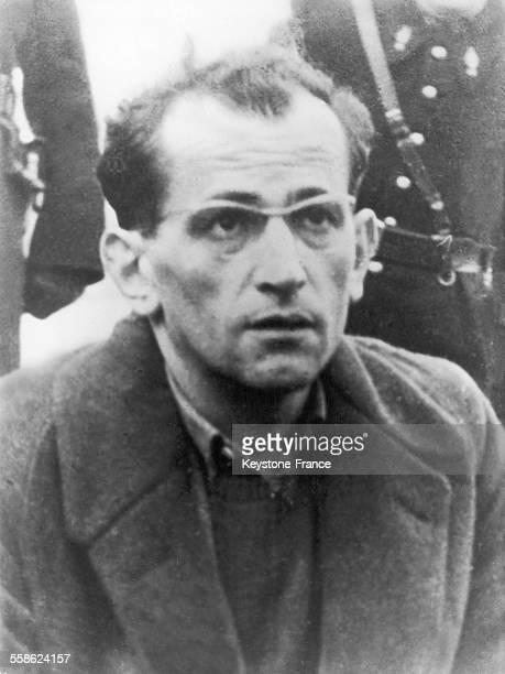 L'accusé Guy Desnoyers dans l'affaire du curé d'Uruffe en France en 1958