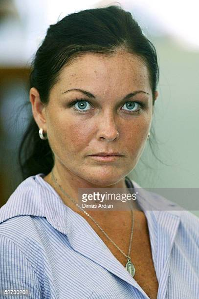 Accused Australian Drug Runner Schapelle Corby listens to her defense lawyers delivering a 70-page final submission to the court on April 28, 2005 at...