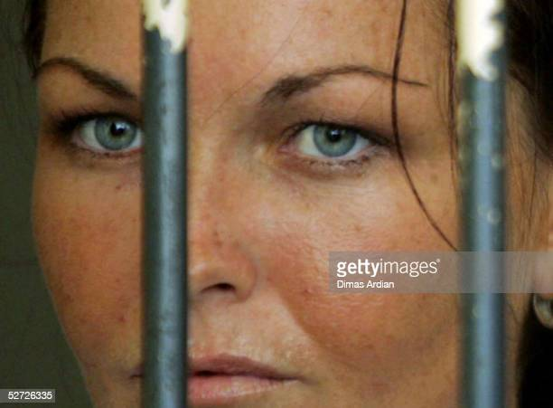Accused Australian drug runner Schapelle Corby waits in her cell before her trial on April 28, 2005 at Denpasar Court, Bali, Indonesia. Corby will...