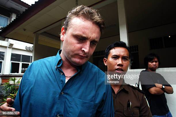 Accused Australian drug smuggler Martin Stephens in court for the second time on charges of alleged drug trafficking on October 19 2005 in Bali...