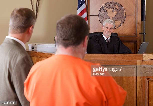 Accused Criminal and Lawyer in a Courtroom