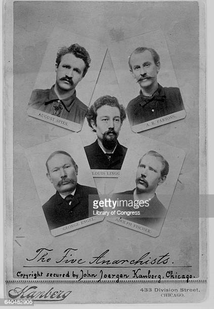 Accused of being anarchists because they were fighting for an 8hour work day are labor activists August Spies Albert Parsons Louis Lingg George Engel...