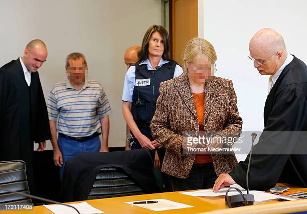 Accused Russian spies with the aliases Andreas and Heidrun Anschlag appear in court on the last day of their trial on July 2 2013 in Stuttgart...