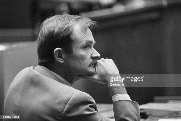 Accused serial killer Randy Kraft listens to testimony in a preliminary hearing Kraft is believed to have killed as many as 35 people