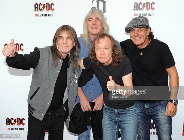 Ac/Dc Live At River Plate Dvd World Premiere Hmv Hammersmith Apollo London Britain 06 May 2011 Ac/Dc Malcolm Young Cliff Williams Angus Young And...