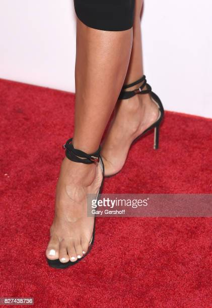 Ace Awards Style Ambassador honoree Eva Longoria shoe detail attends the 21st Annual Ace Awards hosted by the Accessories Council at Cipriani 42nd...