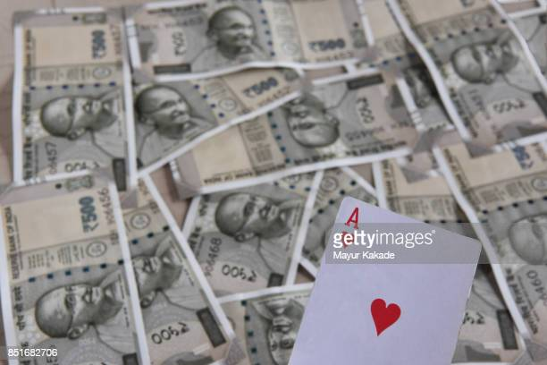 Ace card with Indian Rupees