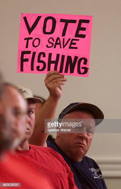 Ace Carter of Lake Castaic makes his opinion known during meeting Wednesday The California Fish and Game Commission is meeting in Santa Barbara today...