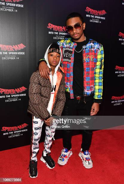 Ace Coleman and Amir Coleman attend 'Spiderman Into The SpiderVerse' Atlanta screening at Regal Atlantic Station on December 6 2018 in Atlanta Georgia