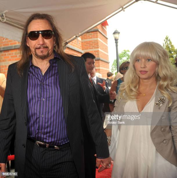 Ace Frehley and fiancee Rachael Gordon attend the 3rd Annual New Jersey Hall of Fame Induction Ceremony at the New Jersey Performing Arts Center on...