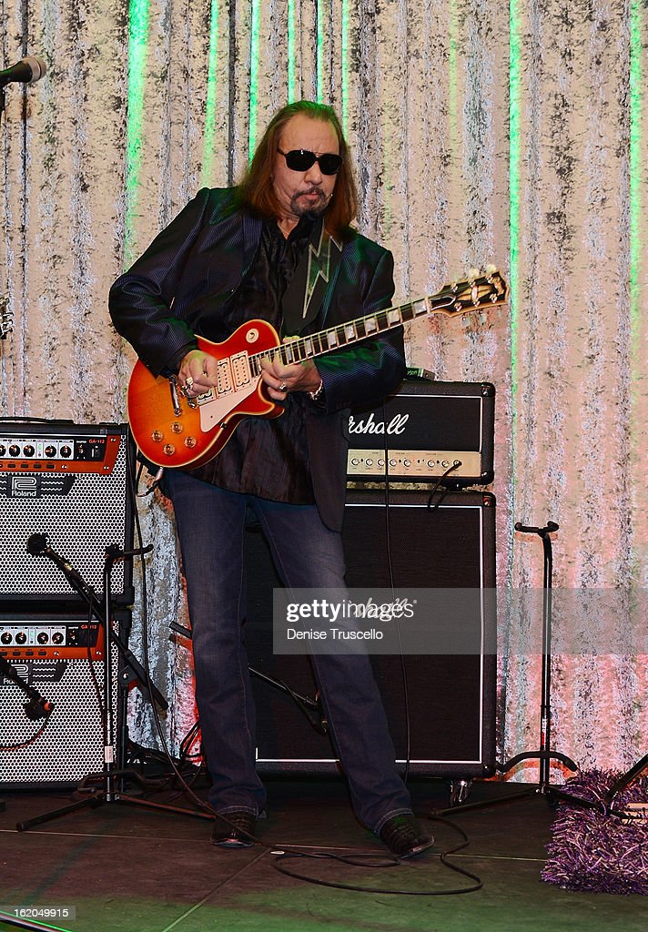 Ace Frehley during Rock 'n' Roll Fantasy Camp in Las Vegas on February 18, 2013 in Las Vegas, Nevada.