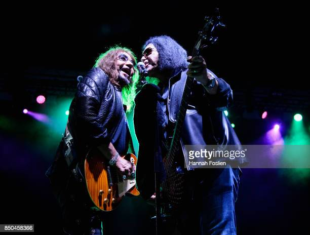 Ace Frehley preforms with Gene Simmons at The Children Matter Benefit Concert Featuring Gene Simmons Ace Frehley Don Felder And Cheap Trick on...