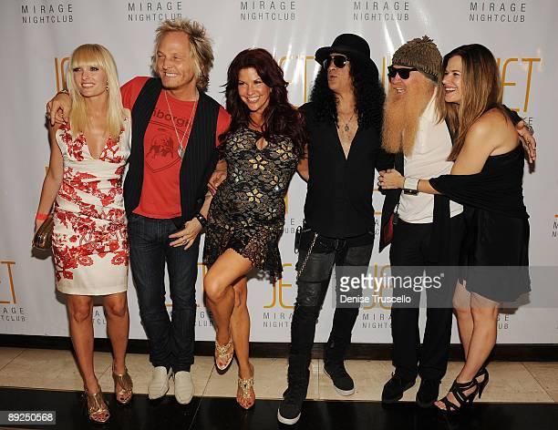 Ace Harper, Matt Sorum, Perla Hudson, Slash, Billy Gibbons and Gilligan Stillwater arrives at Jet Nightclub at The Mirage Hotel and Casino on July...