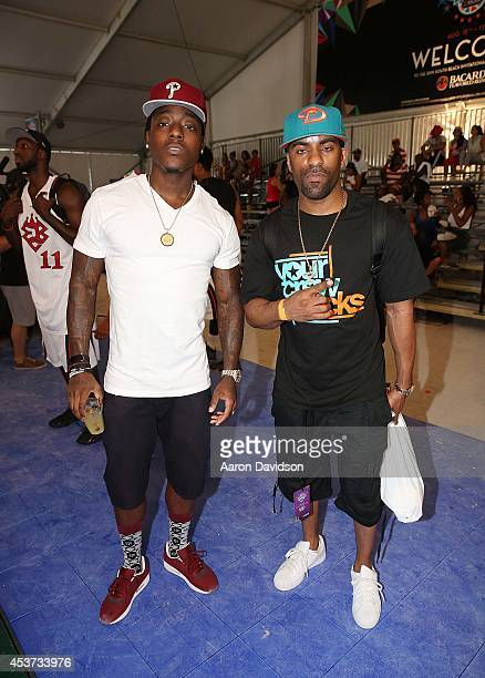 Ace Hood and DJ Clue participates in South Beach Invitational on August 16 2014 in Miami Beach Florida