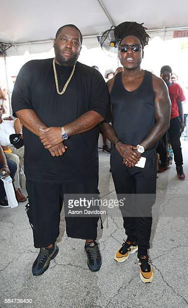 Ace Hood and Killer Mike attends #BankBlack Miami on July 30 2016 in Miami Florida