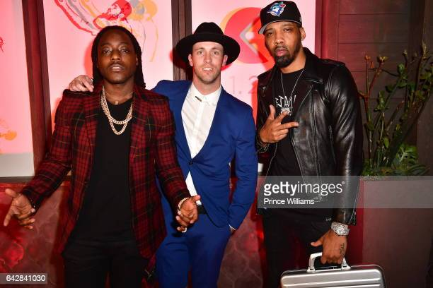 Ace Hood Danny Evans and Chevy Woods attend and RGB Dinner at Toca Madera on February 13 2017 in Los Angeles California