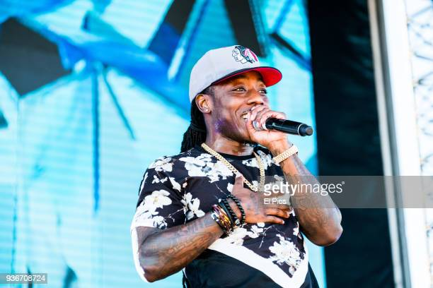 Ace Hood performs at the Jumanji Festival on March 9 2018 in Melbourne Australia