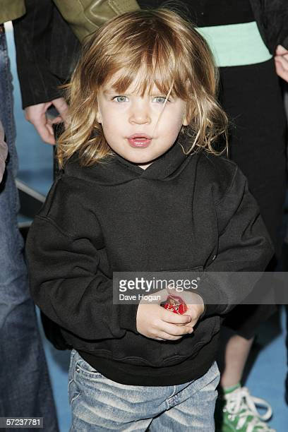 Ace Howlett son of Liam Howlett and Natalie Appleton arrives at the UK Premiere of 'Ice Age 2 The Meltdown' at the Empire Leicester Square on April 2...