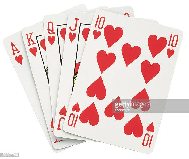 ace king queen jack and ten of hearts