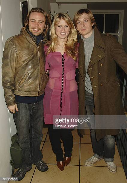 Ace Lawson Alice Eve and Crispian Mills attend the aftershow party followlng the UK Premiere of 'Stoned' at Century on November 17 2005 in London...