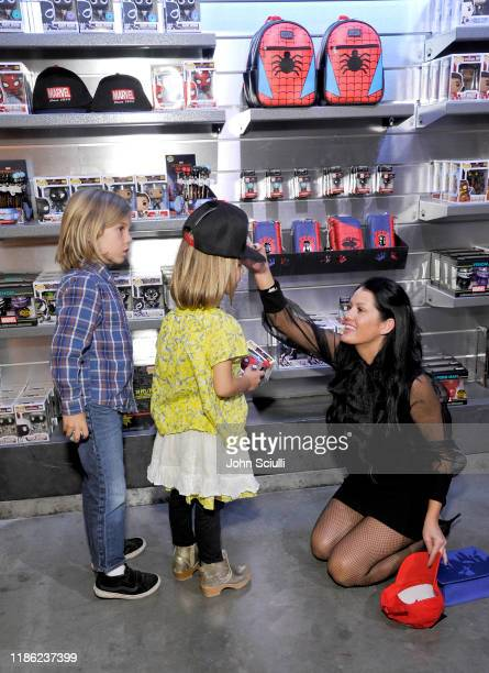 Ace Newton guest and Jessica Lesaca attend the Funko Hollywood VIP Preview Event at Funko Hollywood on November 07 2019 in Hollywood California