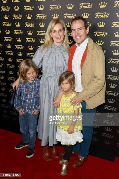 Ace Newton Stacey Newton Kitty Newtown and Teddy Newtown attend the Funko Hollywood VIP Preview Event at Funko Hollywood on November 07 2019 in...