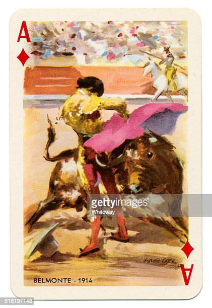 Baraja Taurina bullfighter Ace of Diamonds 1965