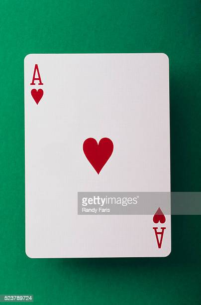 ace of hearts - hearts playing card stock photos and pictures