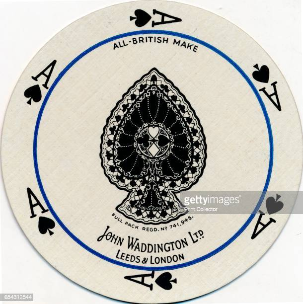 Ace of Spades c1929 From CirQLar playing cards first edition [John Waddington Ltd Leeds London c1929] Artist Unknown