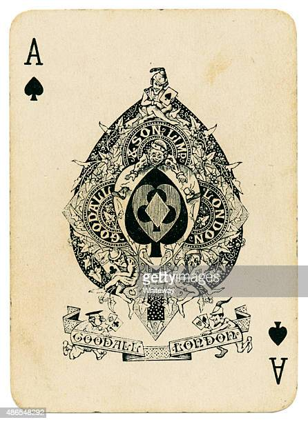 Playing card Ace of Spades from coronation 1902 pack