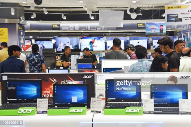 Acer laptops can be seen at a Showroom in New Delhi India on 11 October 2018
