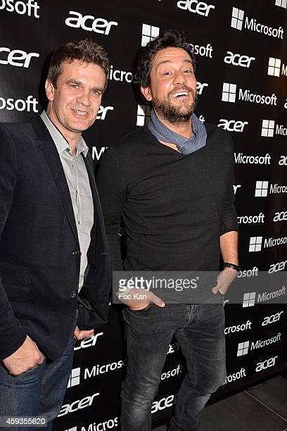 Acer Marketing director Fabrice Massin and Fabrice Massin;Titoff attend the Acer Pop Up Store Launch Party at Les Halles on November 20, 2014 in...