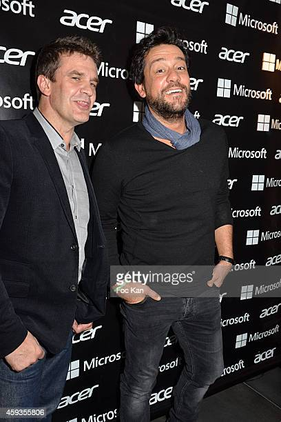Acer Marketing director Fabrice Massin and Fabrice MassinTitoff attend the Acer Pop Up Store Launch Party at Les Halles on November 20 2014 in Paris...